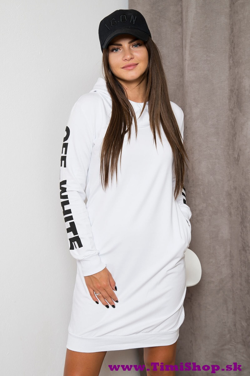 d742f4fc6881 Športové šaty s dlhým rukávom - Biela