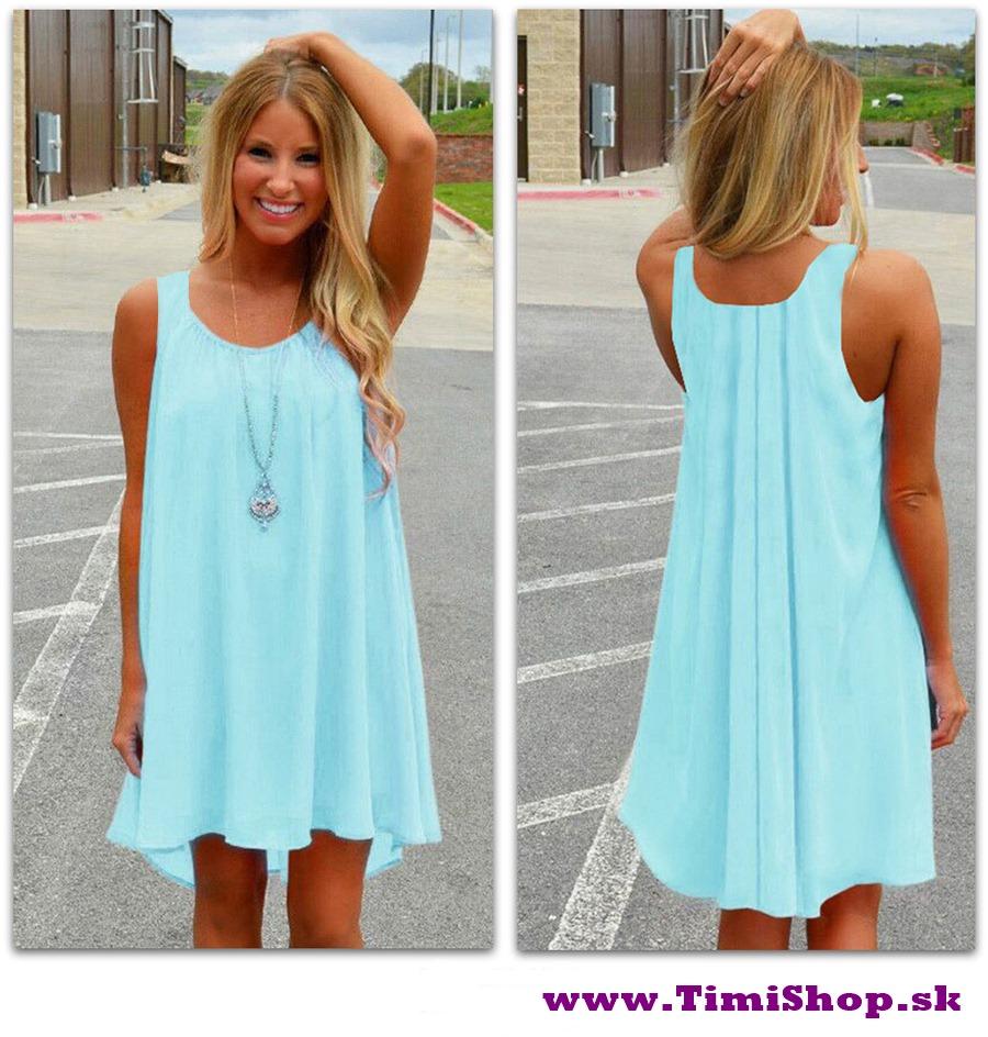 Letné šaty - Sv.modra - veľkosť  S M - SKLADOM 087c46de28e