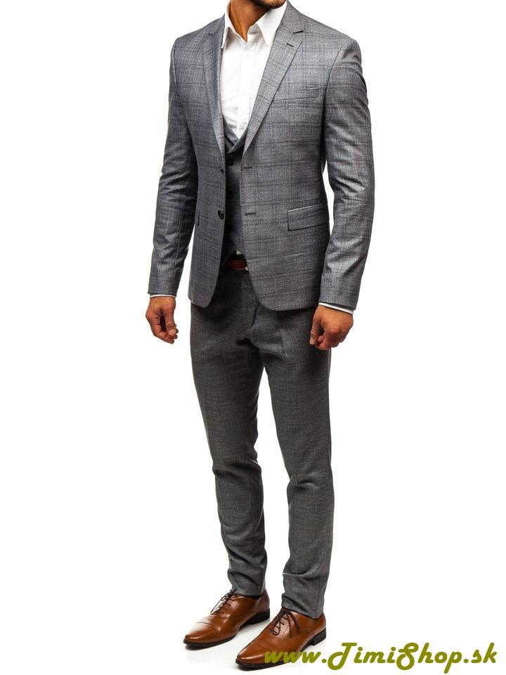 790190fd866c6 OBLEK / SAKO | Pánsky oblek s vestou - Siva | TimiShop