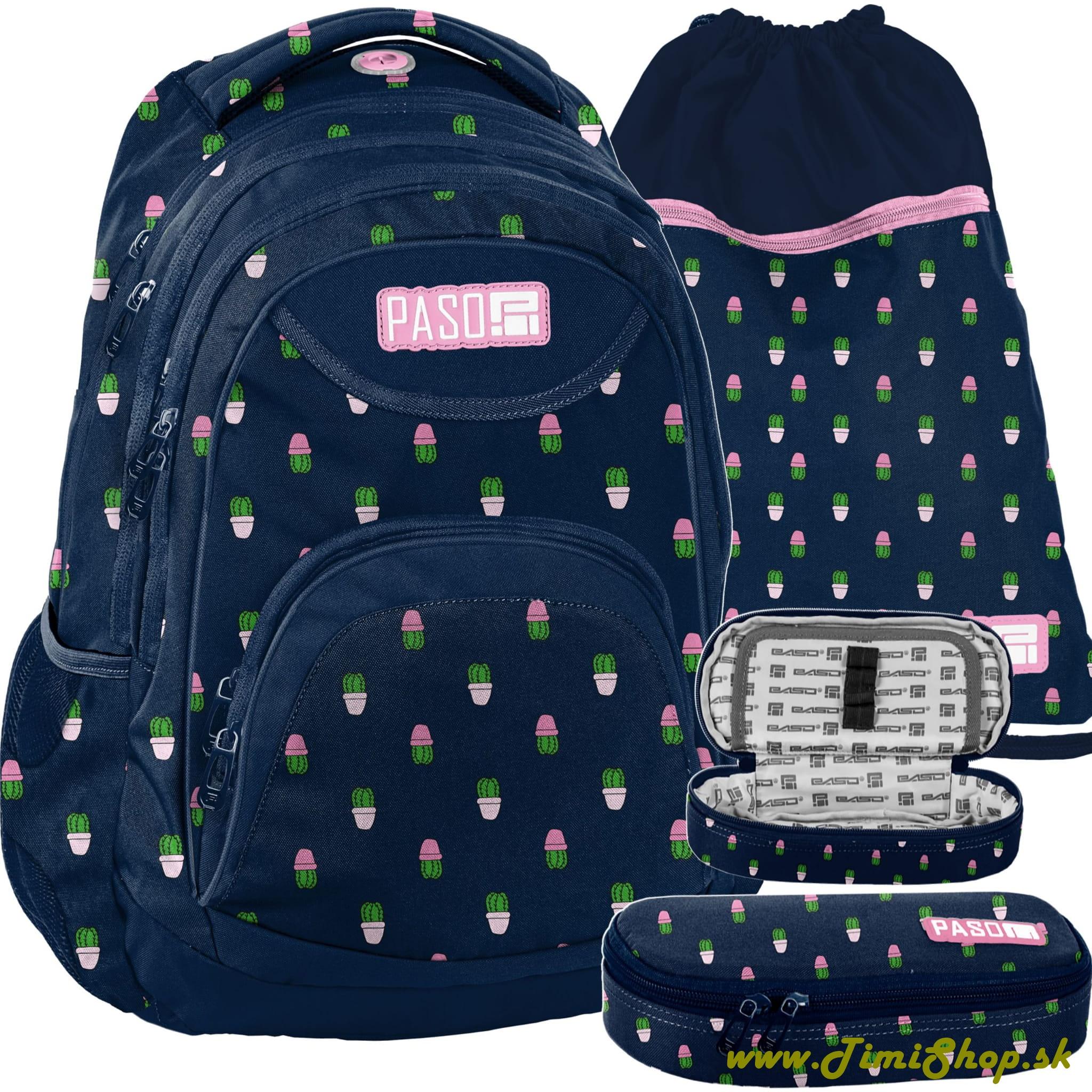 c150e61946 Školský batoh 3v1 Kaktus - Granat