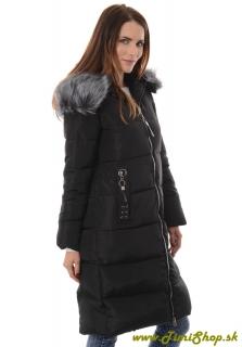 Dlhá zimná bunda zdobené vrecka - Čierna empty 1d4e7fe1654